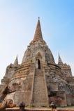 在ayudhya的Stupa 免版税图库摄影