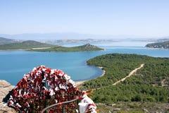 在Ayvalik土耳其的海岸线 库存照片