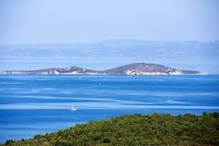 在Ayvalik土耳其的海岸线 免版税图库摄影