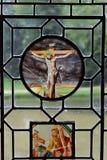 在Azay leRideau城堡的彩色玻璃。 图库摄影