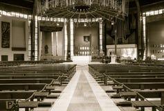 在B里面的利物浦大城市大教堂 库存图片