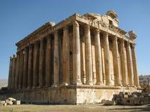 在Baalbeck,黎巴嫩的古老废墟 免版税库存照片