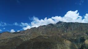 在Babusar上面附近的Chilas山 免版税图库摄影