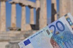 希腊经济危机 库存图片