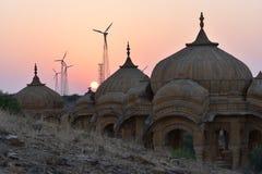 在bada baag Jaisalmer拉贾斯坦印度的古老纪念碑 免版税图库摄影