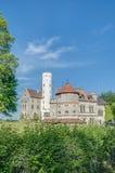在Baden-Wurttemberg的利希滕斯泰因城堡,德国 图库摄影