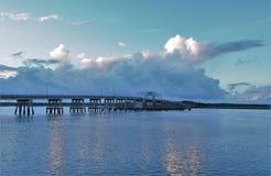 在Baeufort的桥梁 免版税库存照片