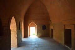 在Bagan寺庙里面,缅甸 免版税库存照片