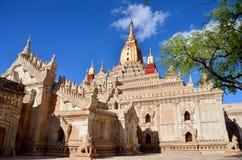 在Bagan考古学区域的阿南达寺庙在Bagan,缅甸 免版税库存图片