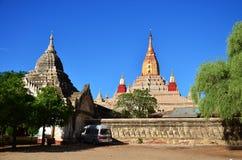 在Bagan考古学区域的阿南达寺庙在Bagan,缅甸 库存照片