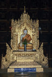 在Bagaya修道院的装饰的佛教雕象 免版税库存照片