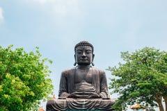 在Baguashan的菩萨雕象在彰化,台湾 免版税库存图片
