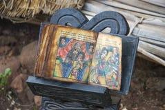 在bahir dar埃塞俄比亚的古老圣经 免版税库存图片