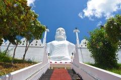 在Bahirawakanda,康提的Sri玛哈Bodhi寺庙 库存照片