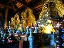 在Bai Dinh寺庙的菩萨雕象 库存照片
