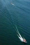 在Baikal湖的两只快艇 免版税库存照片