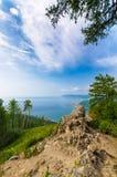 在Baikal湖的风景晴天风景 库存图片