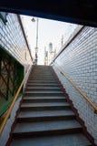 在Bajcsy Zsilinszky Utca街道的地铁中止 免版税库存图片