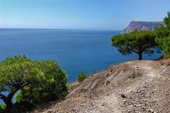 在Balaklava附近的海风景 免版税图库摄影