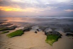 在Balangan海滩的海景 巴厘岛 印度尼西亚 免版税库存图片
