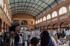在Ballarat采矿交换的艺术和工艺市场 库存图片