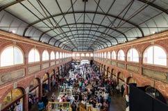 在Ballarat采矿交换的艺术和工艺市场 免版税库存照片