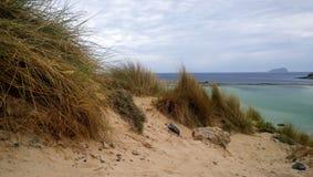 在Balos海湾的沙丘  库存图片