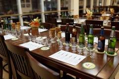 在Baltika -圣彼德堡啤酒厂的品尝会议 免版税库存图片