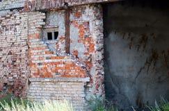 在Baltiysk的废墟 免版税库存图片