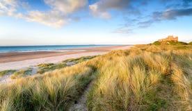 在Bamburgh的沙丘 免版税图库摄影