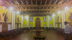 在Banglaore宫殿, Bengaluru,印度的艺术品 免版税库存照片