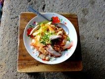 在bangok泰国的街道食物 免版税库存图片