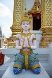 在Bangpai寺庙Nontaburi泰国的天使 免版税库存图片