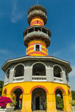 在Bangpain王宫,阿尤特拉利夫雷斯的中国式大厦 库存图片