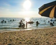 在Bangsan海滩泰国的假期 库存图片