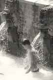 在Banjar的热的硫磺浴反弹巴厘岛 库存图片