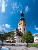 在Banskà ¡ Bystrica的Barbakan大厦 免版税库存照片