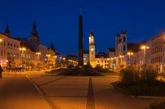 在Banska Bystrica的Nameste SNP正方形 库存照片