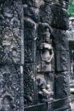 在Banteay Kdei寺庙,柬埔寨的浅浮雕 免版税库存照片