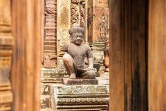 Banteay Srei 免版税库存照片