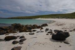 在Barra小岛的美丽的海滩  库存照片