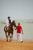 在Barrameda,西班牙, 2010年8月Sanlucar的跑马  免版税图库摄影