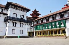 在Basantapur Durbar广场的Hanuman Dhoka在加德满都 库存图片