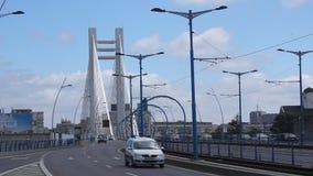 在Basarab桥梁的交通 股票视频