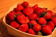 在Baslet的草莓 免版税图库摄影