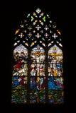在Batalha修道院的彩色玻璃 免版税库存照片