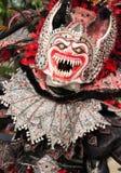 在Bayaguana狂欢节的妖怪面具  免版税图库摄影