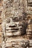 在Bayon寺庙,吴哥窟,柬埔寨的面孔 免版税库存照片