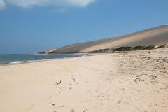 在Bazaruto海岛上的空的海滩 免版税库存照片