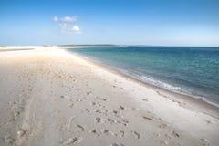 在Bazaruto海岛上的空的海滩 库存图片
